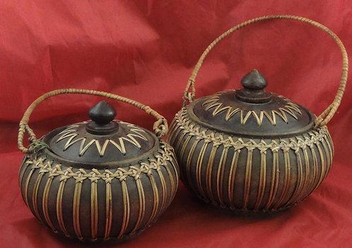 Mango Wood Baskets: Medium & Large