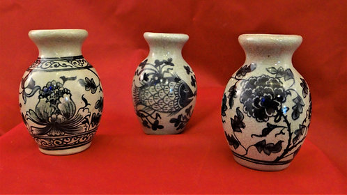 Small Vases in Celedon