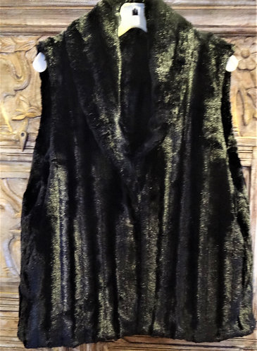 Shawl Collar Best: Minky Balck in XL