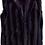 Thumbnail: Shawl Collar Best: Minky Balck in XL