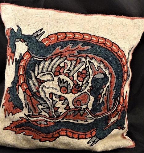 Kashida Dragon Pillow  Cover ll