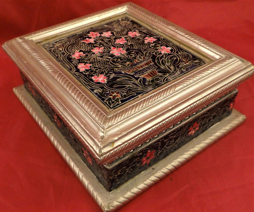 Cloisonne Silver Coated Box