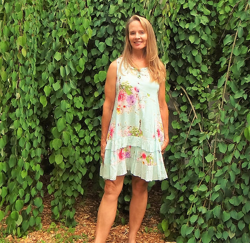 Tiered Summer Floral Dress: Papillon
