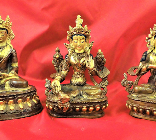 24K Gold Face Statues