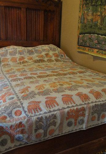 Katab, Applique, Single Bedspread or Wall Hanging