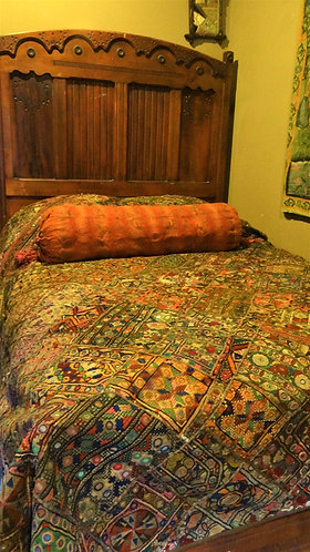 Aasha: Banjara Vintage Bedspread or Wall Hanging