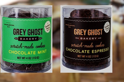 Grey Ghost Cookies Canister- Assorted