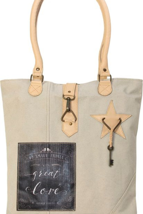 Small Things/Great Love Canvas Tote