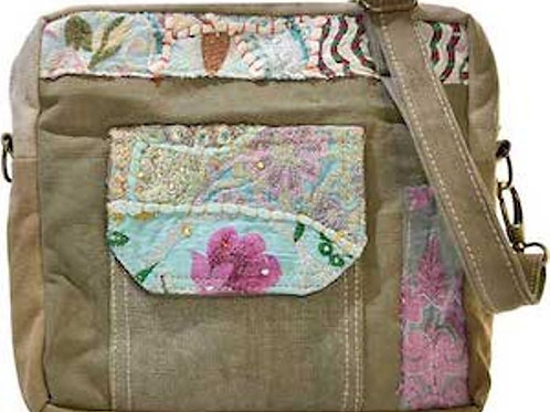 MILITARY TENT CROSSOVER WITH VINTAGE FABRIC