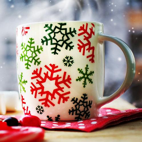 Decorative Mug with Chocolate Bomb