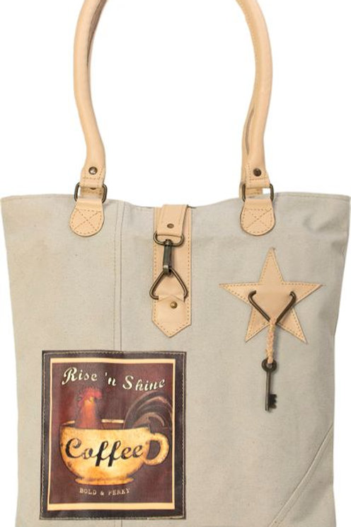 Rise and Shine Coffee Canvas Tote