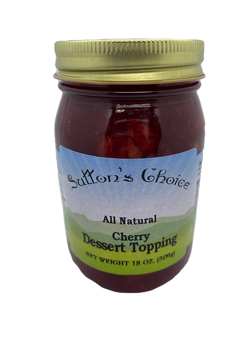 SUTTON'S CHOICE DESSERT TOPPING CHERRY