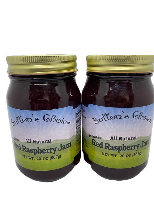 SUTTON'S CHOICE RED RASPBERRY JAM