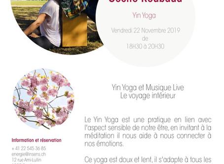 22/11 : Atelier de Yin Yoga & Musique live à Genève