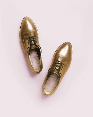 Gold-Schuhe