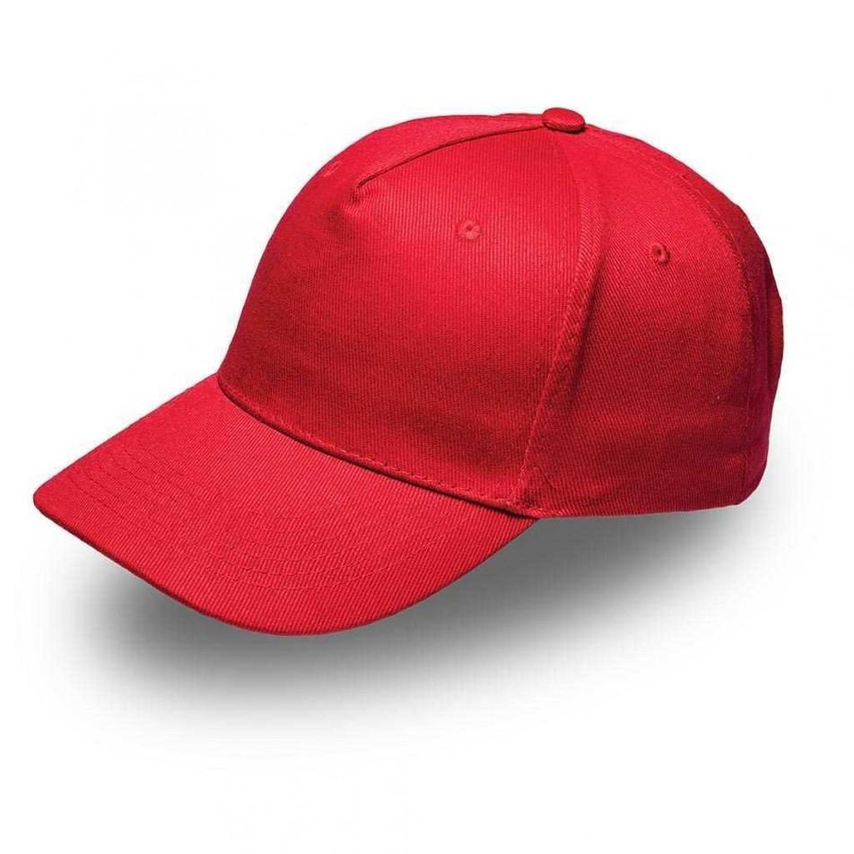 Red 5Panel Cap