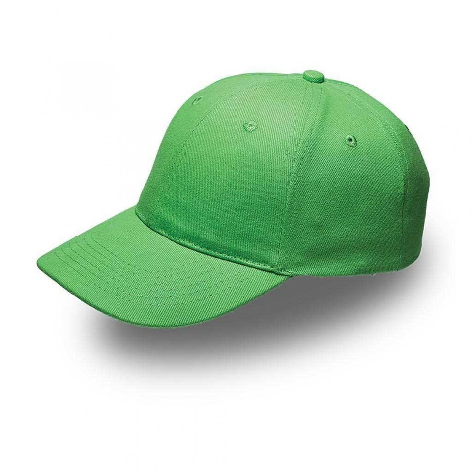 Lime 6 Panel Brushed Cotton Cap