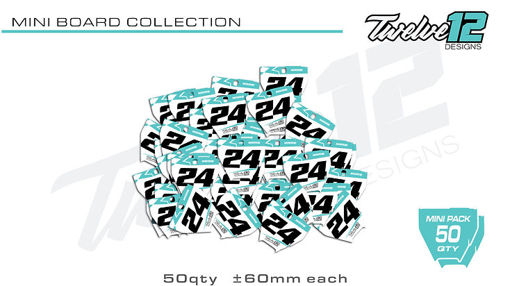 Number Board Collection Custom Design