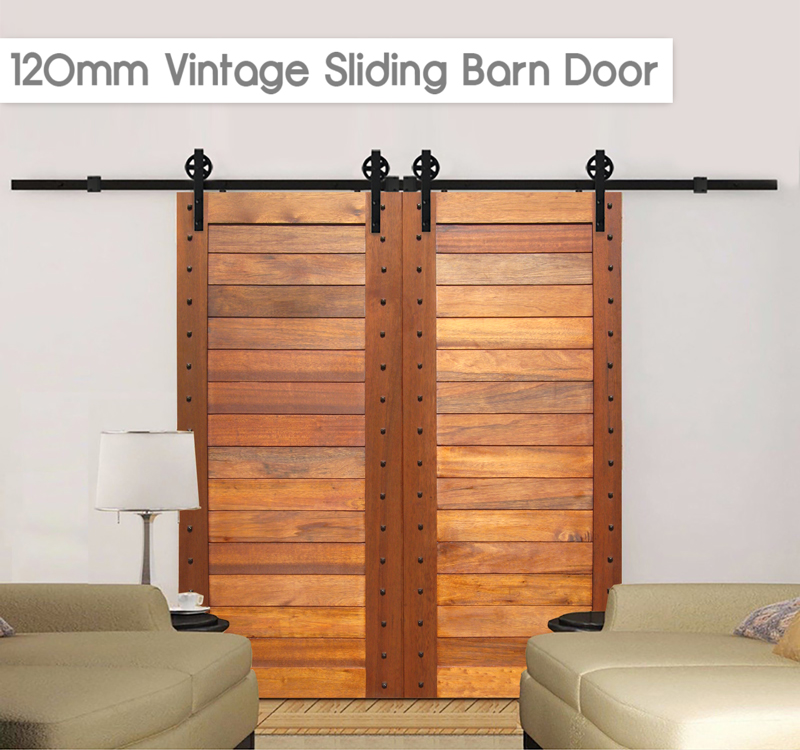 120mm Vintage Sliding Barn Door Kit