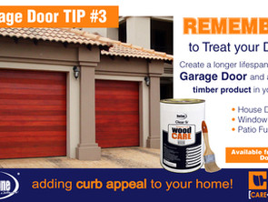 How to treat your Timber Garage Door