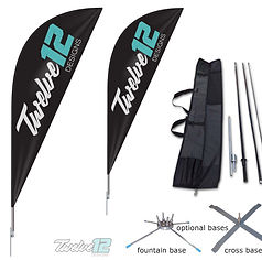 12Twelve Mockup Flag with bag and base