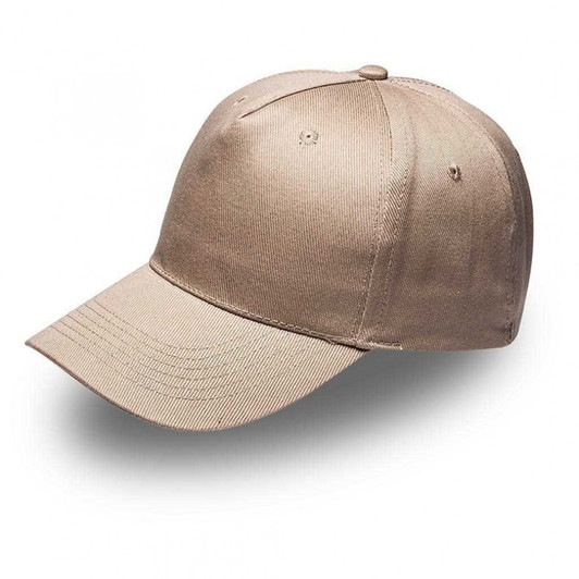 Khaki 5Panel Cap