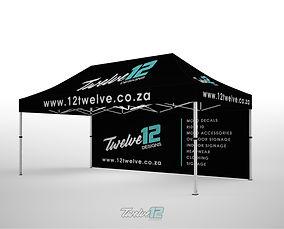 12Twelve 6x3 Gazebo with Full Back Wall