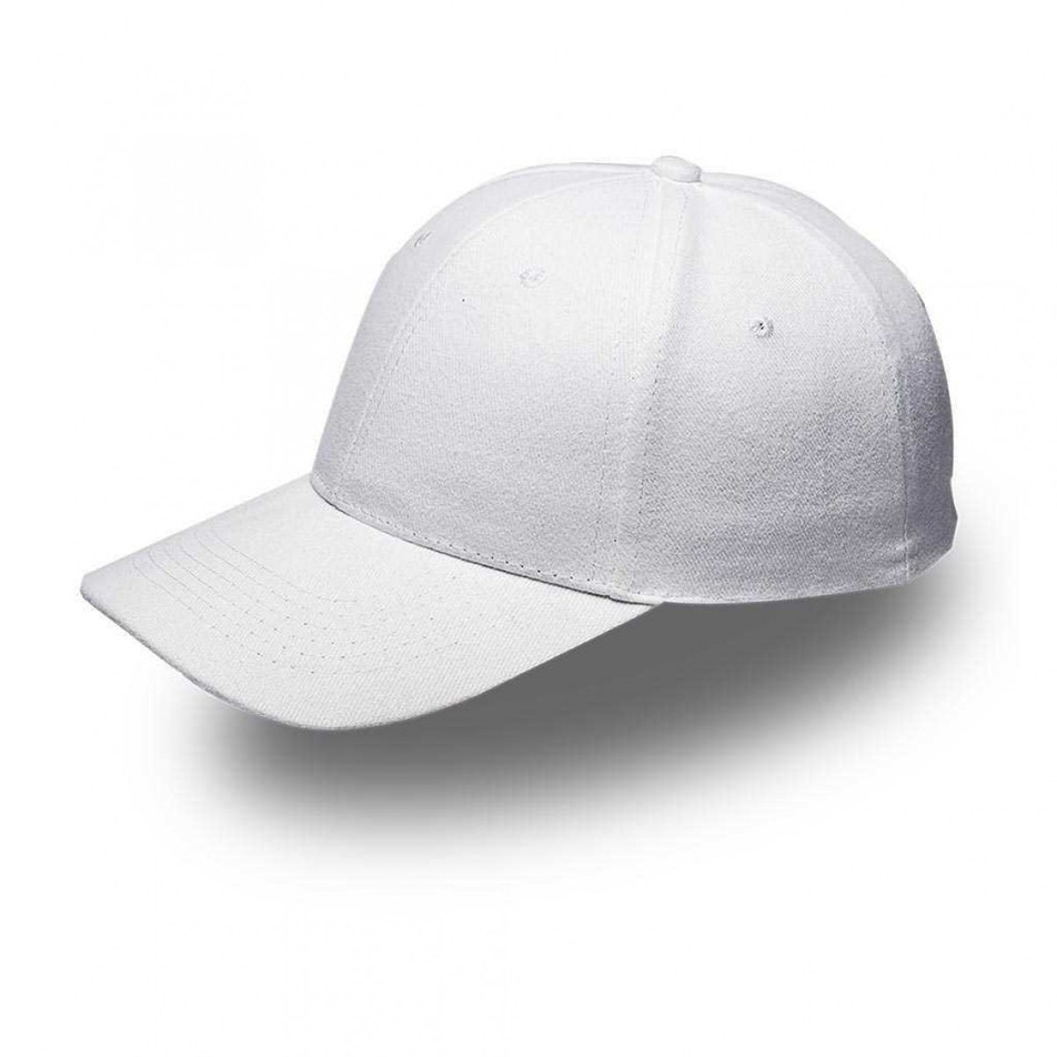 White 6 Panel Brushed Cotton Cap