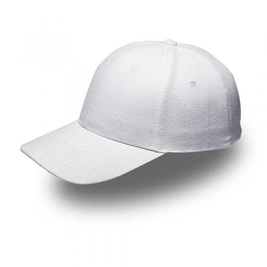 White 6 Panel Brushed Cotton Cap