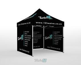 12Twelve 3x3 Gazebo with Full Back Wall