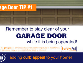 Stay safe around your Garage Door