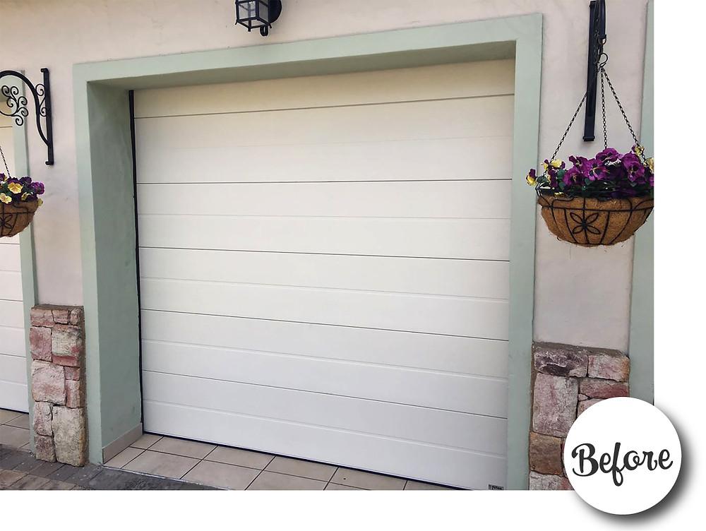 Steel Garage Door before Hardware was Installed