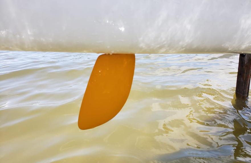 Leme de alta performance com excelente resposta para mar ou represas (água s leves e pesadas)
