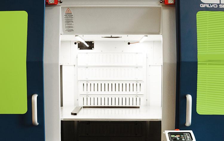 G2 Galvo nun Kapalı sistem çalışan güvenli kabini