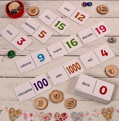 Spanish Number Dominoes
