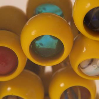 Mirror Marble Wheel - close up