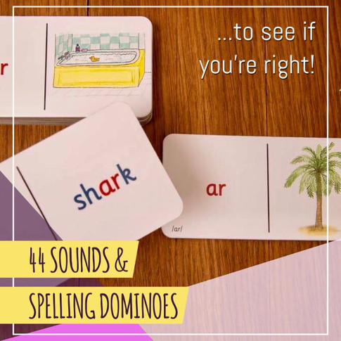 44 Sounds & Spelling Dominoes