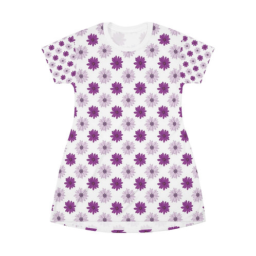 Decorative All Over Print T-Shirt Dress