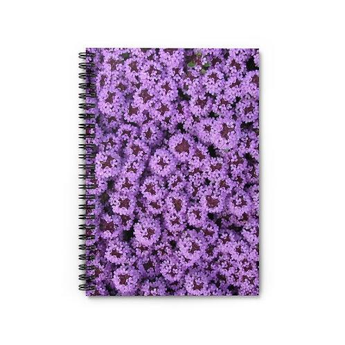 Floral Spiral Notebook - Ruled Line