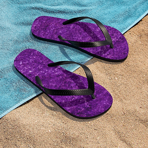 Purple Design Unisex Flip-Flops