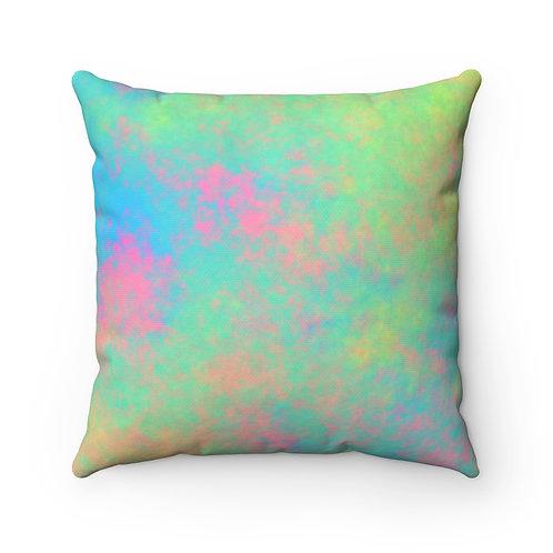 Colorful Spun Polyester Square Pillow