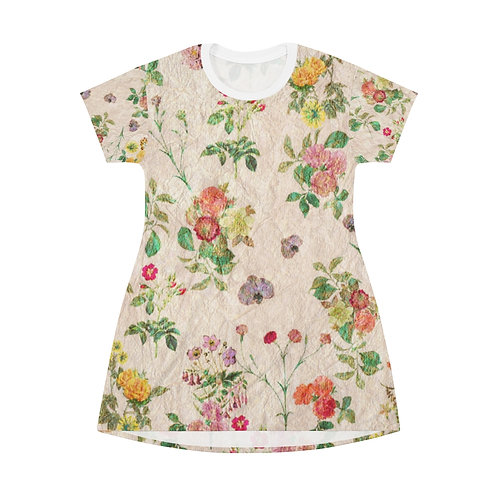 Floral All Over Print T-Shirt Dress