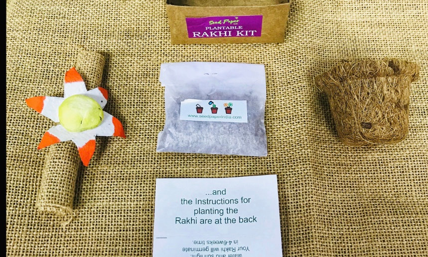 Plantable Seed Paper Rakhi