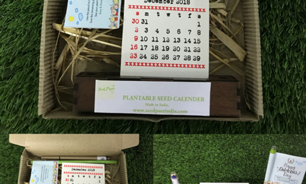 Plantable Seed Paper Calender