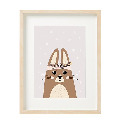 ארנב - רקע חום בהיר