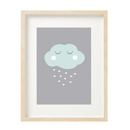 ענן רקע אפור
