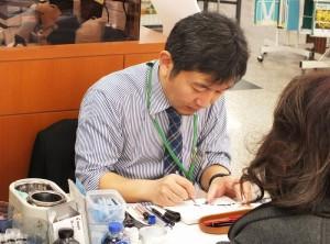 土田真之氏のペンクリニックを開催しています。