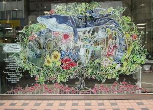 札幌在住のアーティスト果澄さんのディスプレイが登場しています!(1階)