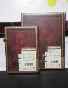 シェイクスピアの肖像画がデザインされたノート