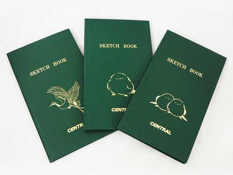 北海道に生息する野鳥をデザインしたセントラルオリジナルの「測量野帳」
